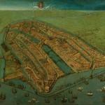Cornelis Anthonisz - plattegrond Amsterdam 1538
