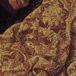 kruisiging jezus detail goudbrokaat