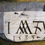 monogram detail zelfportret